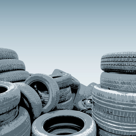 waste heap: old tires