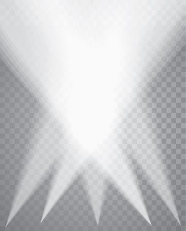 stage projector: five transparent spotlights Illustration