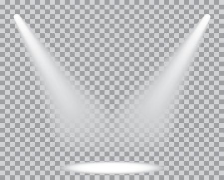 spot lights: two transparent spot lights