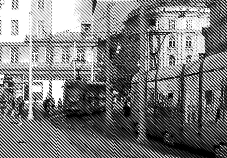 pedestrians: pedestrians and trams in the city