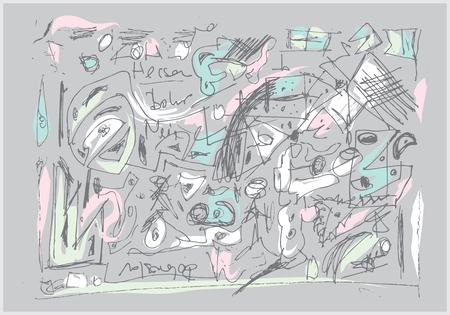 main abstraite illustration dessinée