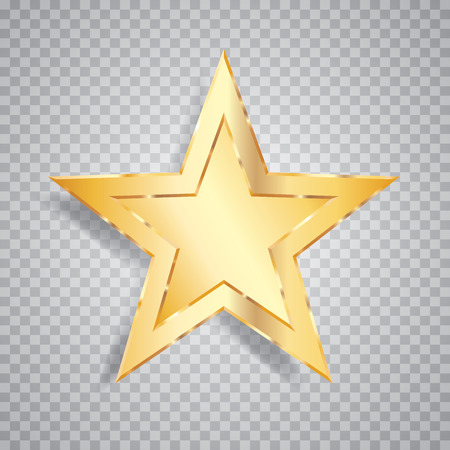 show bussiness: one golden star Illustration