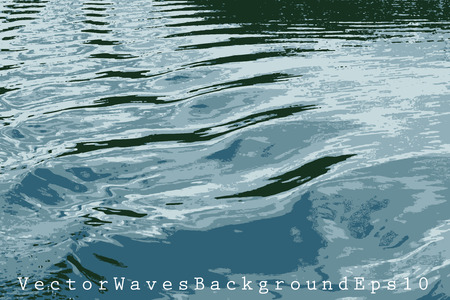 water waves: vector illustration with water waves