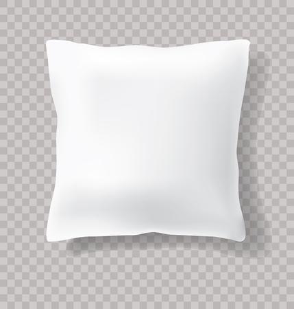 Oreiller blanc vide vierge avec ombre transparente Banque d'images - 80177620