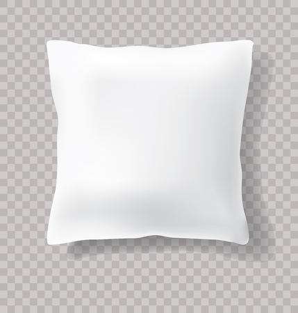 vector blank white pillow with transparent shadow Banco de Imagens - 80177620