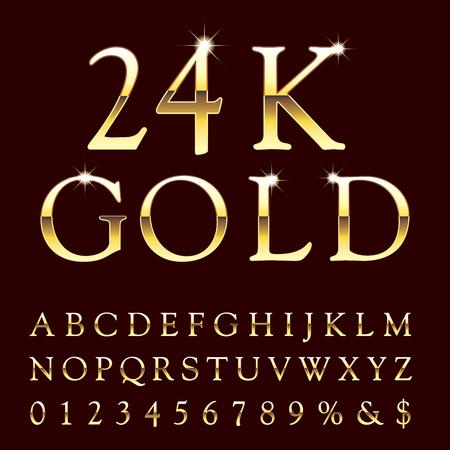 Icono de oro del alfabeto.