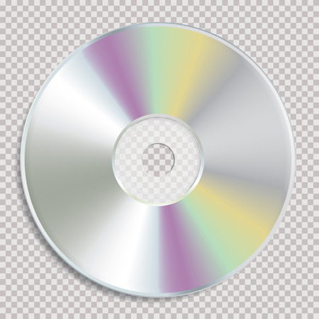 Realistic vector illustration of CD or DVD