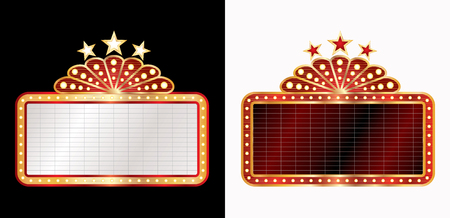 two marquee billboards, vector blank baclground