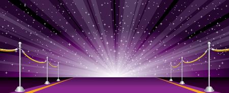 Vector illustration with purple carpet