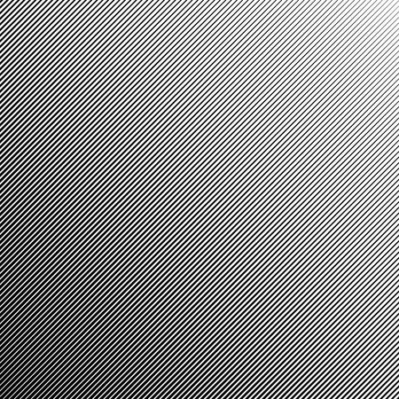 abstract black and white diagonal striped halftone background, vector template