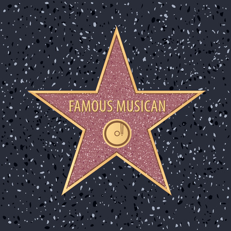 star on Holywood walk of fame for famous musican with editable sample text