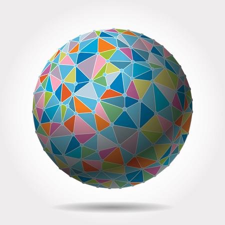 colorful sphere with triangles Foto de archivo - 117163429