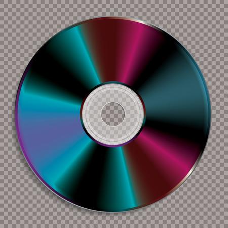 vector realistic illustration of blank CD or DVD disc Vektorové ilustrace