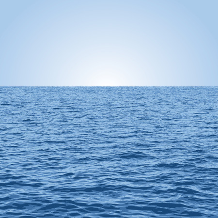 ilustracja wektorowa morza i nieba