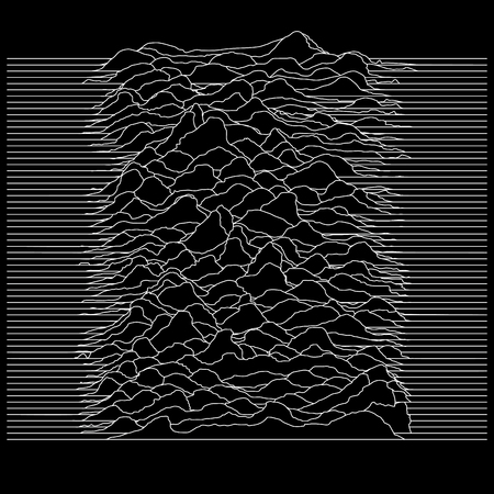 abstract line illustration with landscape or sound waves or background for some scientific research Ilustracje wektorowe