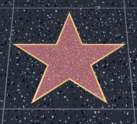 empty star on Holywood walk of fame without text