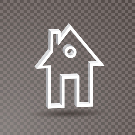 white house icon, editable vector illustration