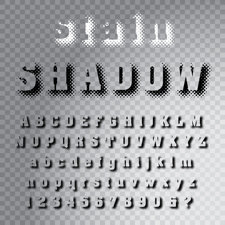 vector grunge stain dotted shadow raster font