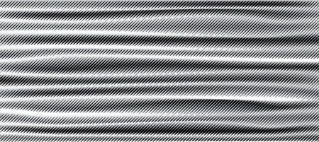 halftone linear raster gradient with gradient mesh in back, abstract geometric vector illustration