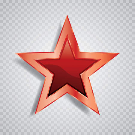 vector red shiny star 矢量图像
