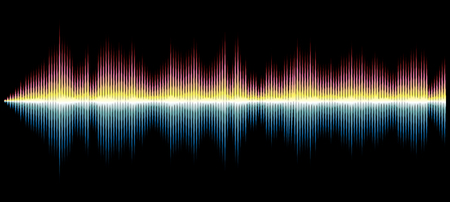 vector sound diagram, abstract music background Иллюстрация