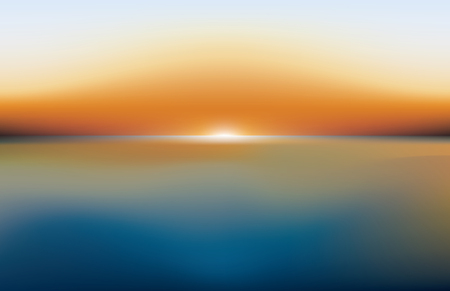 sea sunset landscape, vector abstract background