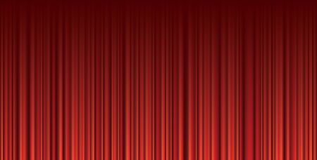 vector abstract empty background with red velvet curtain Фото со стока - 129274300