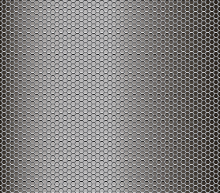 seamless repeating metal honeycomb texture, vector background
