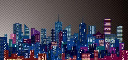 paesaggio urbano moderno astratto, illustrazione vettoriale modificabile Vettoriali