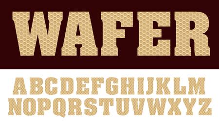 alphabet with wafer, vector illustration Иллюстрация