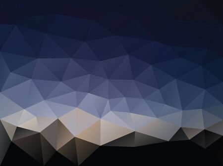 vector abstract background with low poly night landscape