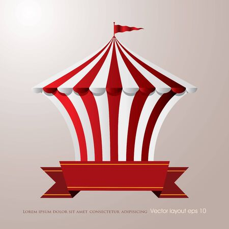 circus tent with blank banner