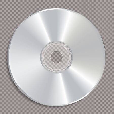 vector realistic illustration of blank CD or DVD disc