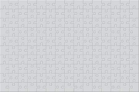 White finished jigsaw puzzle. Blank simple editable symbolic background.