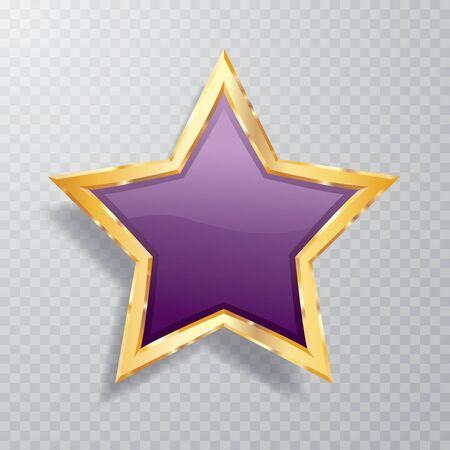 golden green star with transparent shadow, commercial success icon Illustration