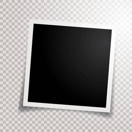 blank photo frame with transparent shadow Фото со стока - 129274718
