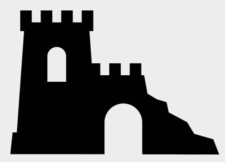 Rovine dell'antico monumento icona vettoriale