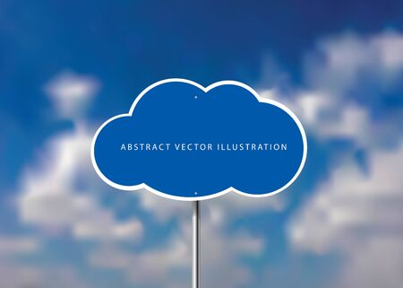 vector realistic illustration of the abstract cloud traffic sign on cloudy background 免版税图像 - 137589602