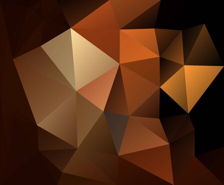 triangulated abstract brown background, colorful smooth template, editable vector low poly illustration 免版税图像 - 137603184