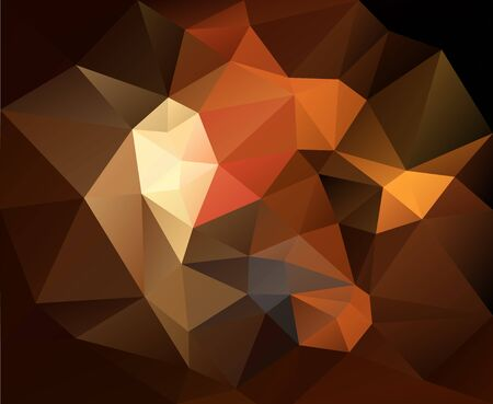 triangulated abstract brown background, colorful smooth template, editable vector illustration
