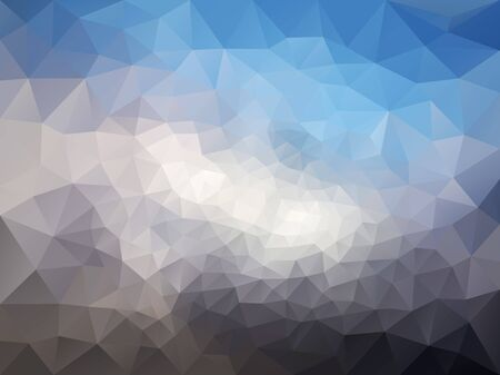 triangulated abstract background in blue colors, colorful smooth template, editable vector illustration 免版税图像 - 140462436