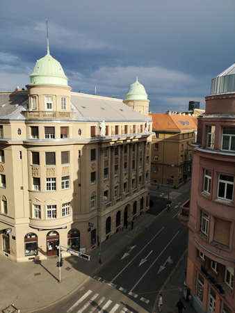 Zagreb, Croatia, Crossroads of Marticeva and Smiciklasova street, 28 May 2020