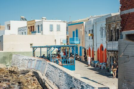 Cafes and restaurants by the sea on the Nisyros island