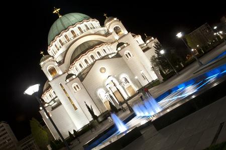 curch: Belgrade, temple of St  Sava Stock Photo