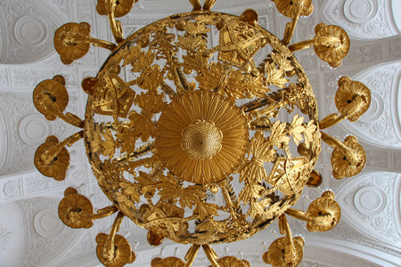 and gold: gold chandelier