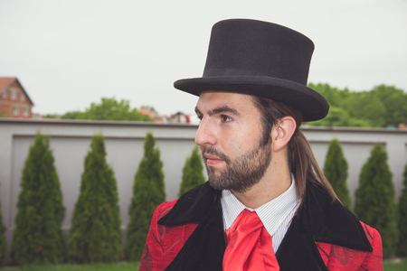 Young gentleman with top hat