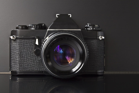 analog camera: Old photo analog camera