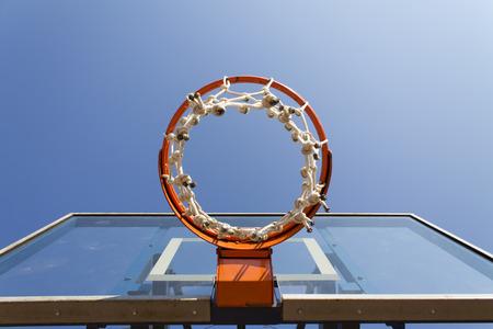 basketball hoop and court