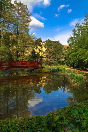 zagreb: Oasis in botanical garden in Zagreb,Croatia
