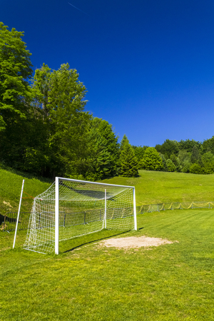 Soccer terrain by the forrest